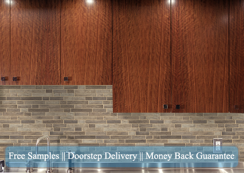 Wood Look Backsplash