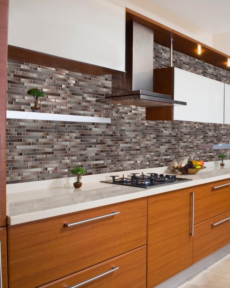 Akaya Copper Interlocking 8mm Glass Tile