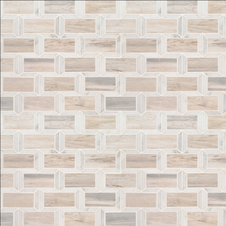 Angora Framework 12X12 Polished Mosaic Wall Tile
