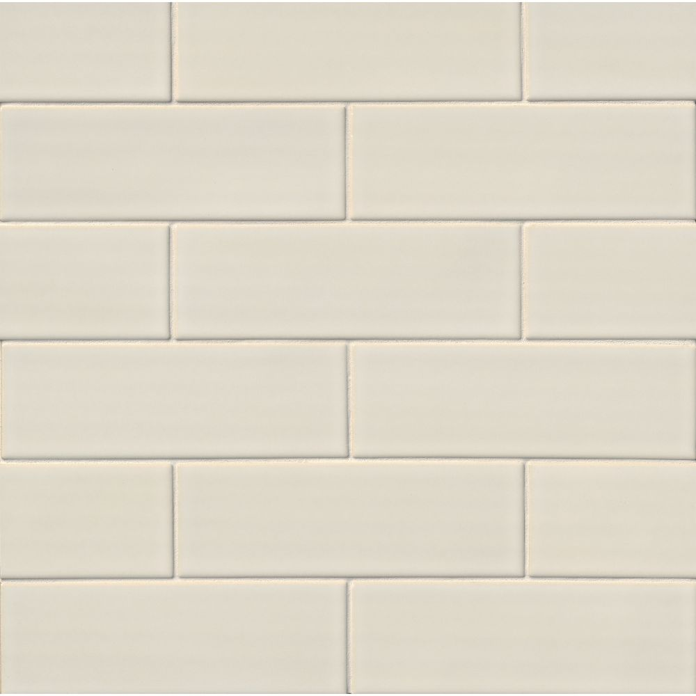 Antique White 4x12 Handcrafted Glossy Subway Backsplash