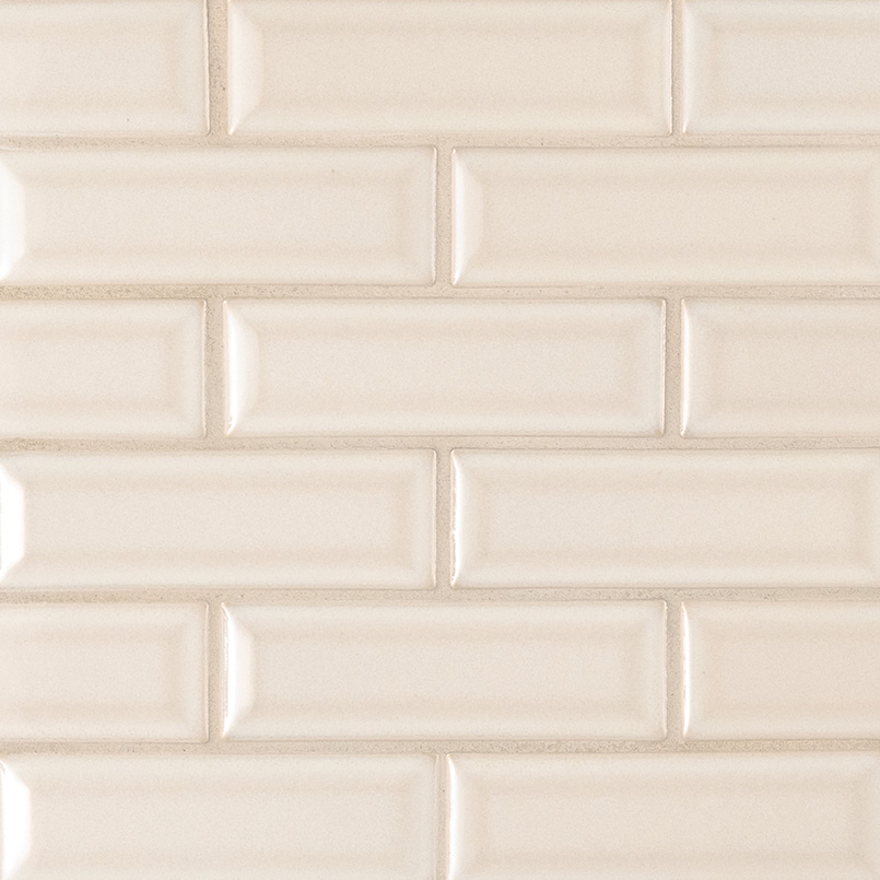 Antique White Glossy 2x6 Bevel Ceramic Subway Tile