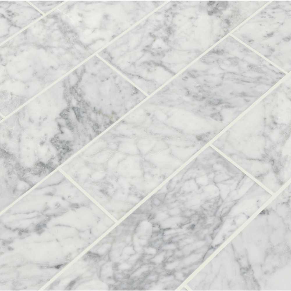 Arabescato Carrara 4X12 Honed Marble Subway Tile