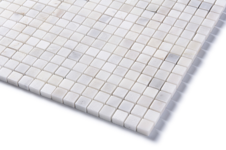 Arabescato Carrara Polished Marble Mosaic
