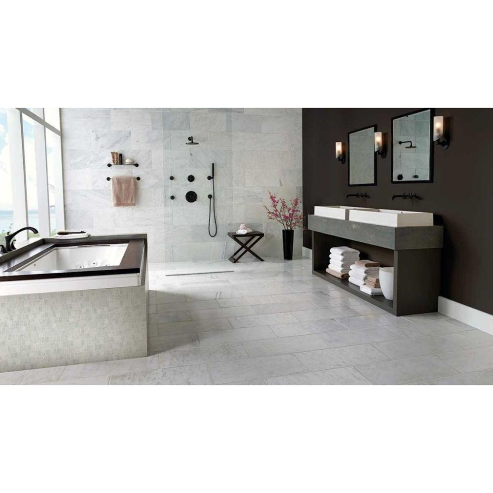 Arabescato Carrara 6X24 Polished Marble Tile