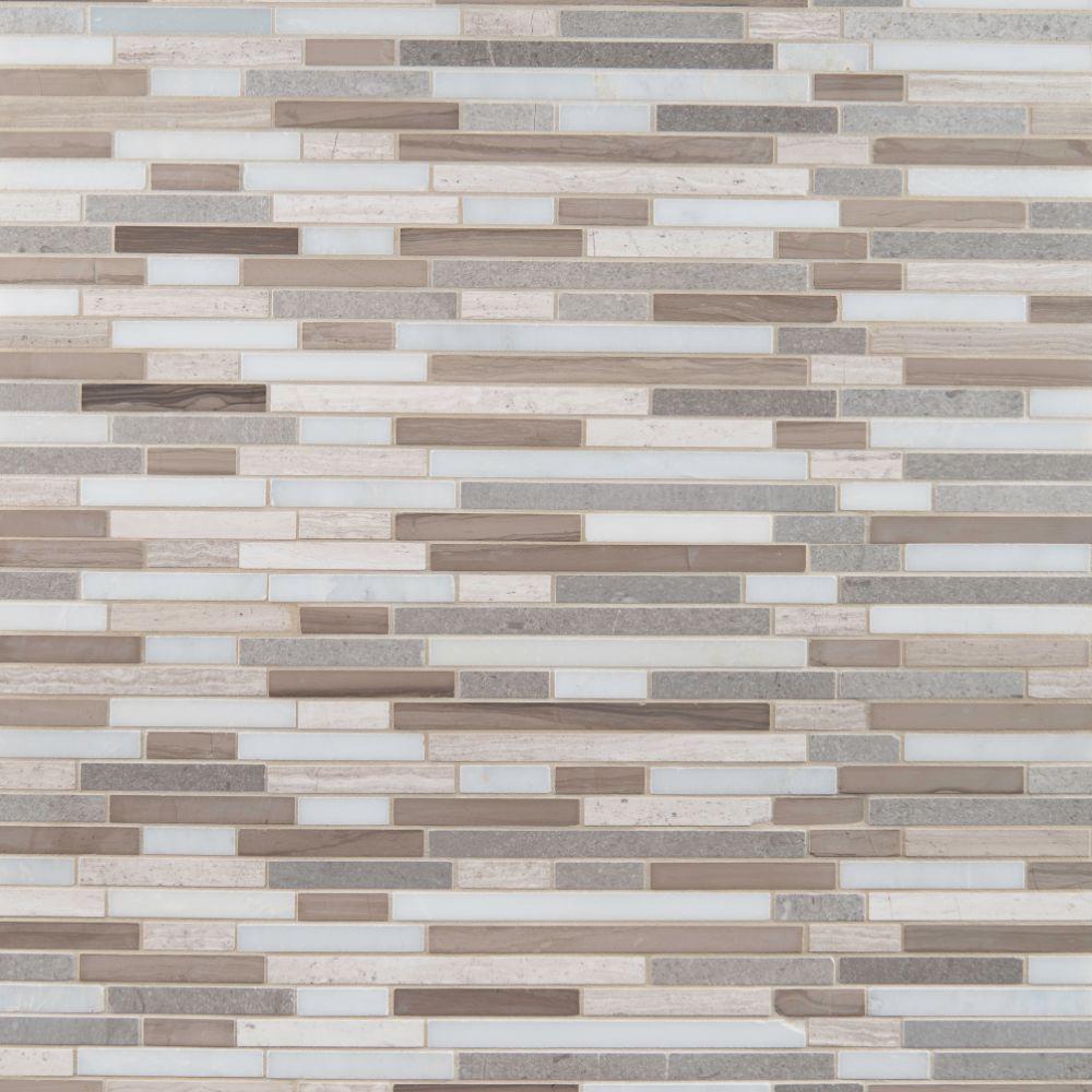 Arctic Storm Interlocking 12X12 Honed Pattern Mosaic