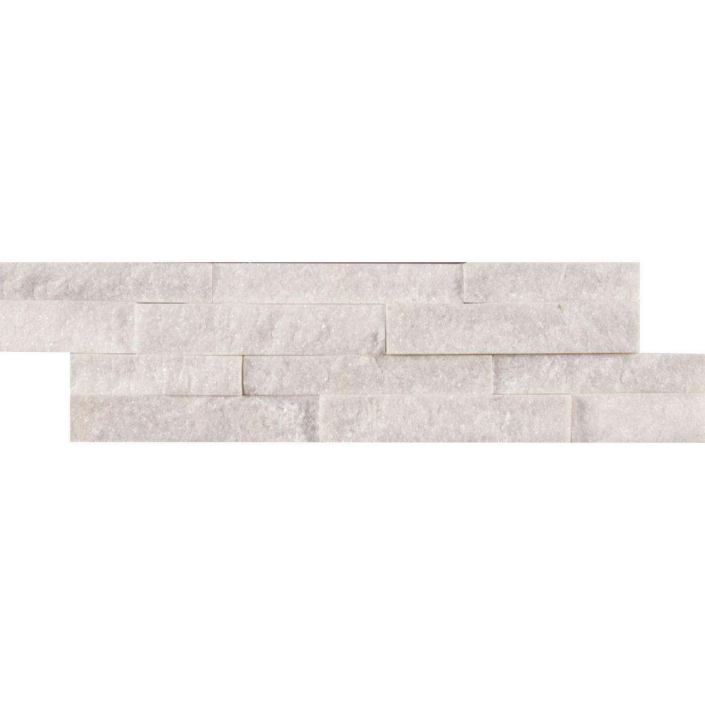 Arctic White 4.5x16 Split Face Mini Ledger Panel