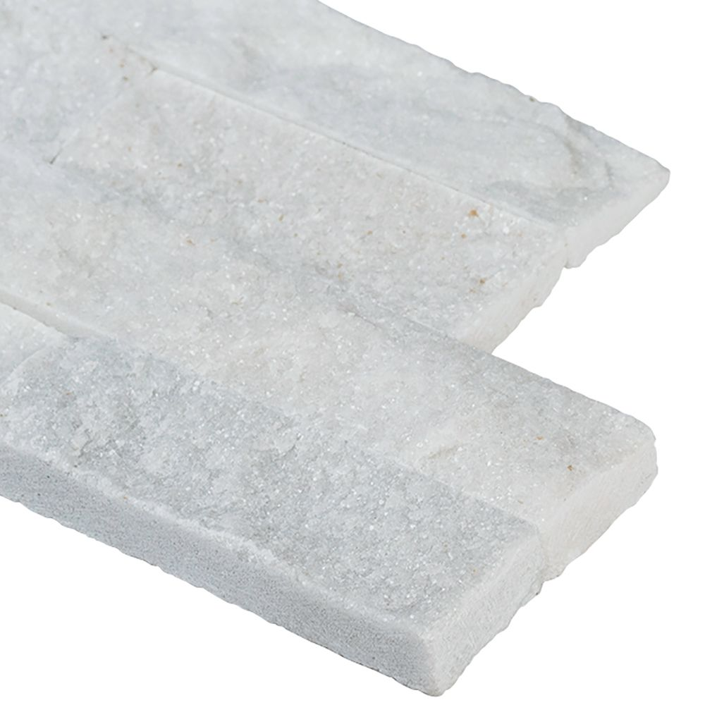 Arctic White 6x12x6 Split Face Corner Ledger Panel