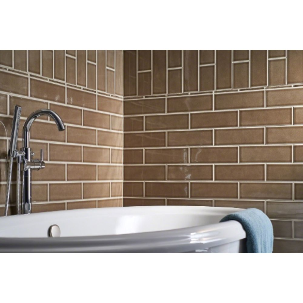 Artisan Taupe Handcrafted 4x12 Glossy Subway Tile
