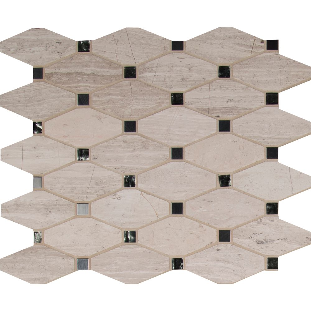 Bayview Elongated Blend Octagon Mosaic