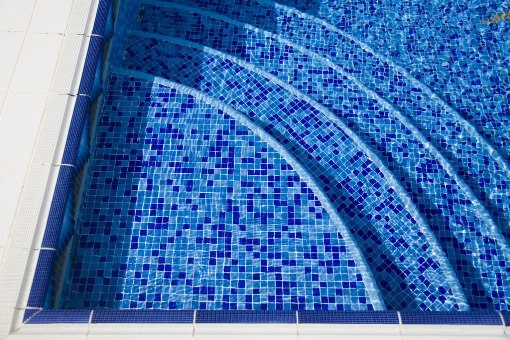 Blue Blend 1X1X8MM Mosaic