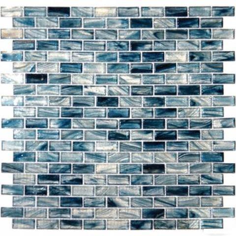 Blue cotton 12X12 Interlocking Crystallized Glass Mosaic
