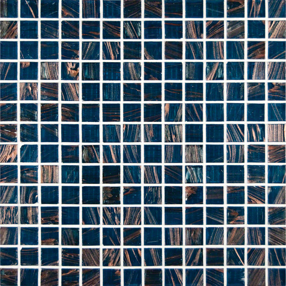 Blue Iridescent 3/4x3/4x4MM Mosaic