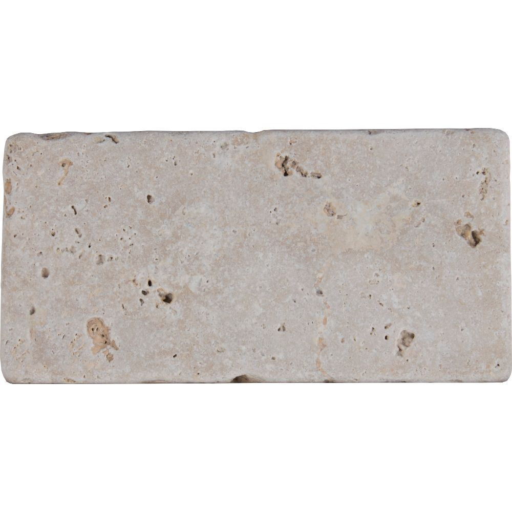 Bologna Chiaro 3X6 Tumbled Travertine Floor and Wall Tile