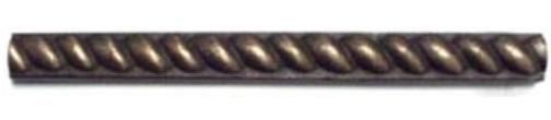 Bronze Metal 0.5x6 Half Round Rope Listello
