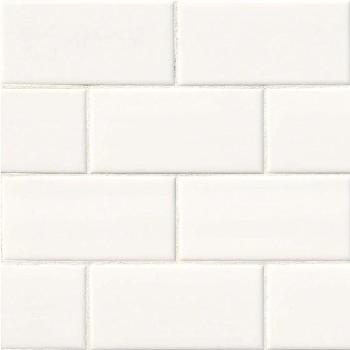White Hudson 4x16 Glossy Subway Tile Backsplash Tile Usa