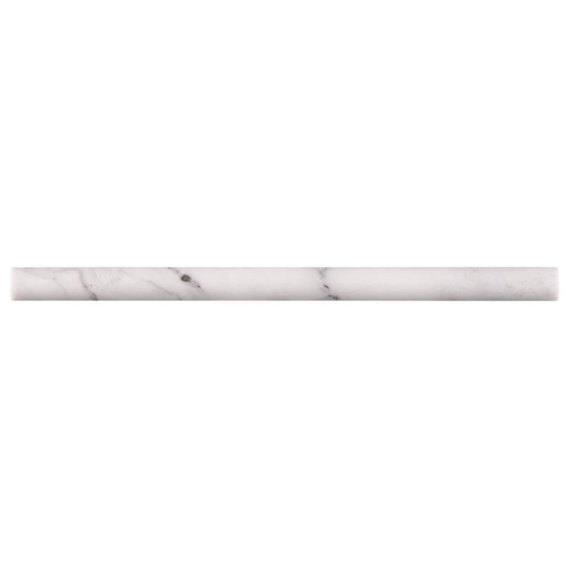 Calacatta Cressa 3/4x3/4x12 Honed Pencil Molding