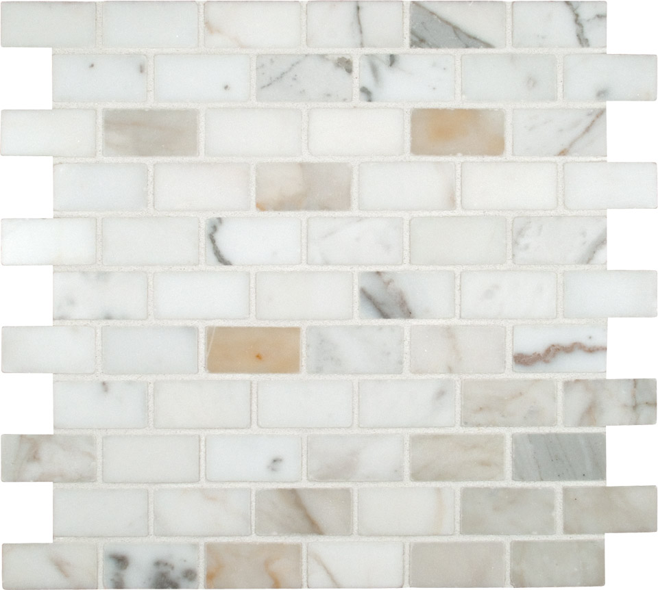 Calacatta Gold 1X2 Polished Marble Mosaic