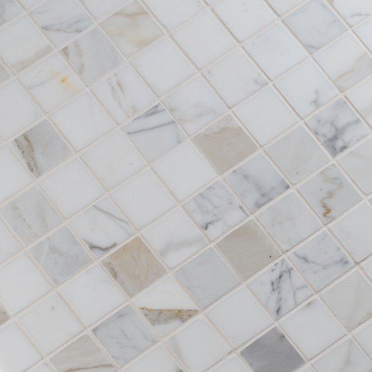 Calacatta Gold 2X2 polished Marble Mosaic