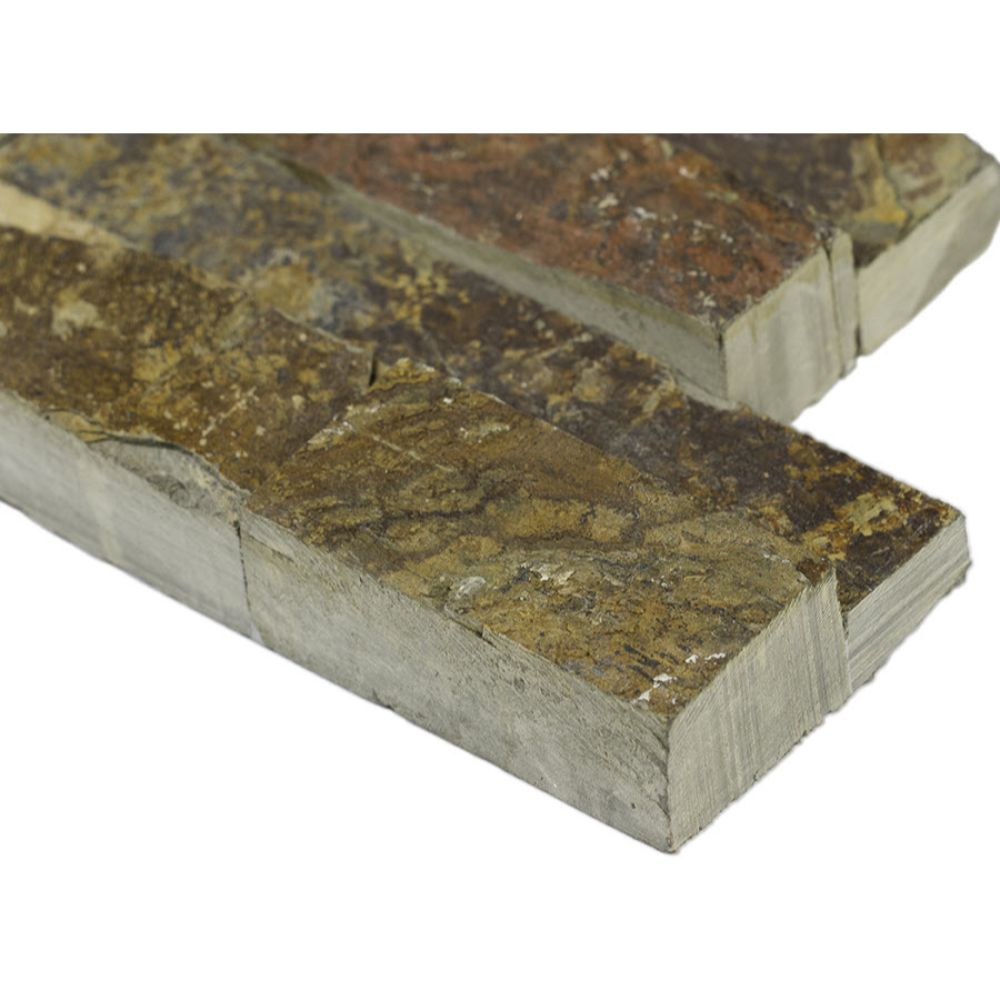 California Gold  6x18x6 Split Face Corner Ledger Panel