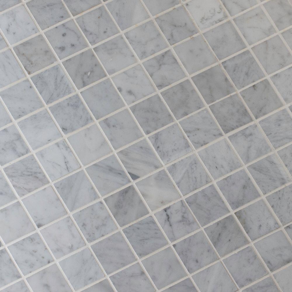 Carrara White 2x2 Polished Marble Mosaic