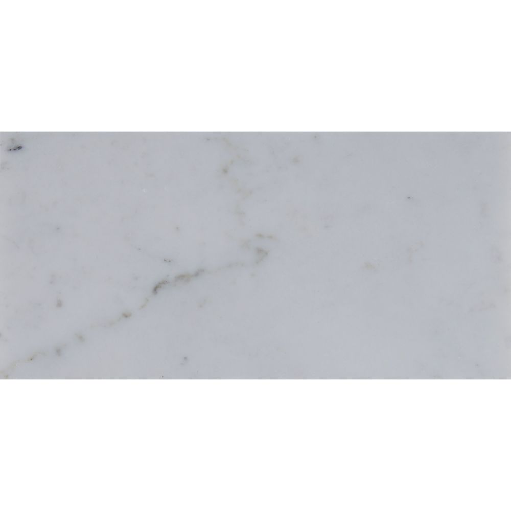 Carrara White 3x6 Polished Marble Subway Tile