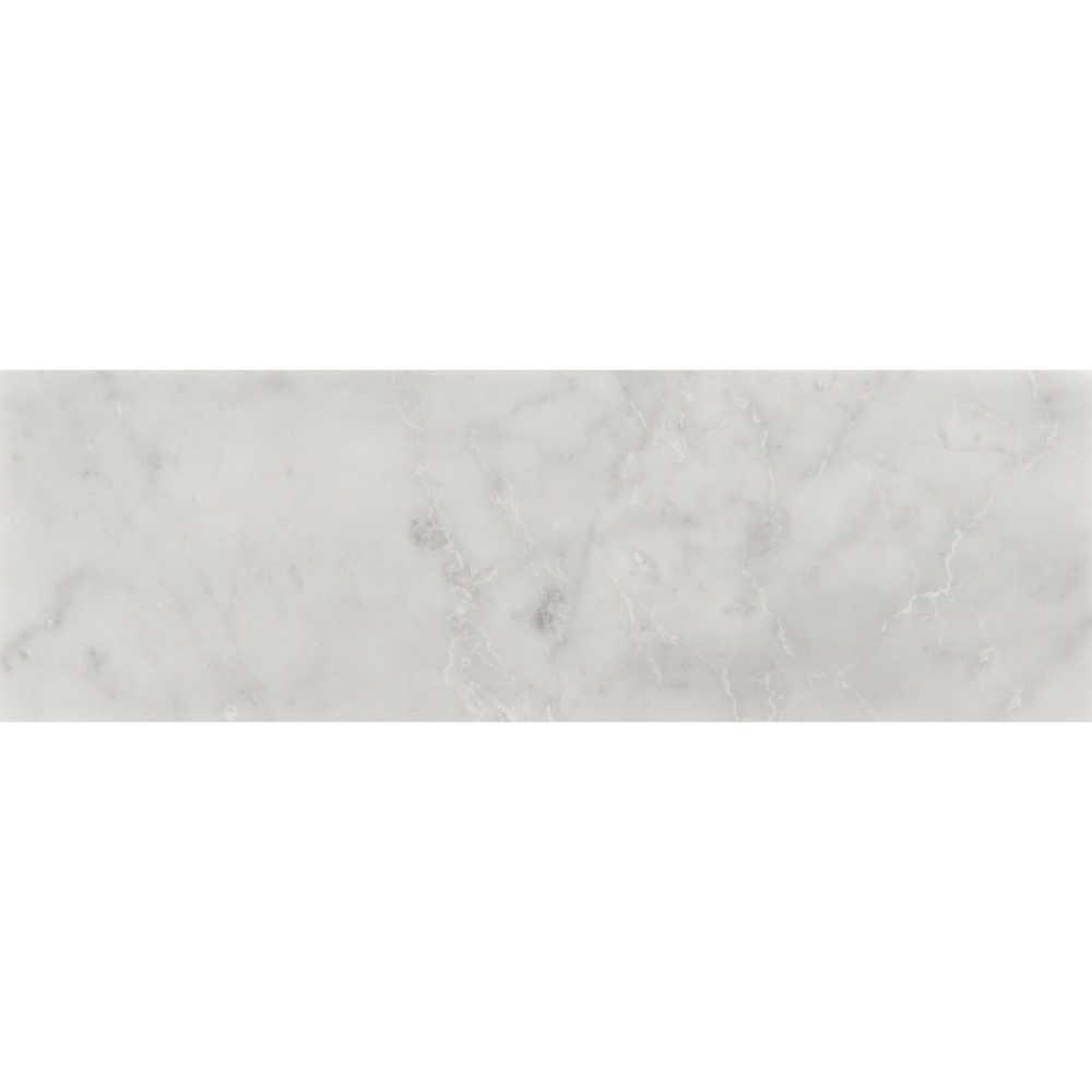 Carrara White 4X12 Honed Subway Marble Tile