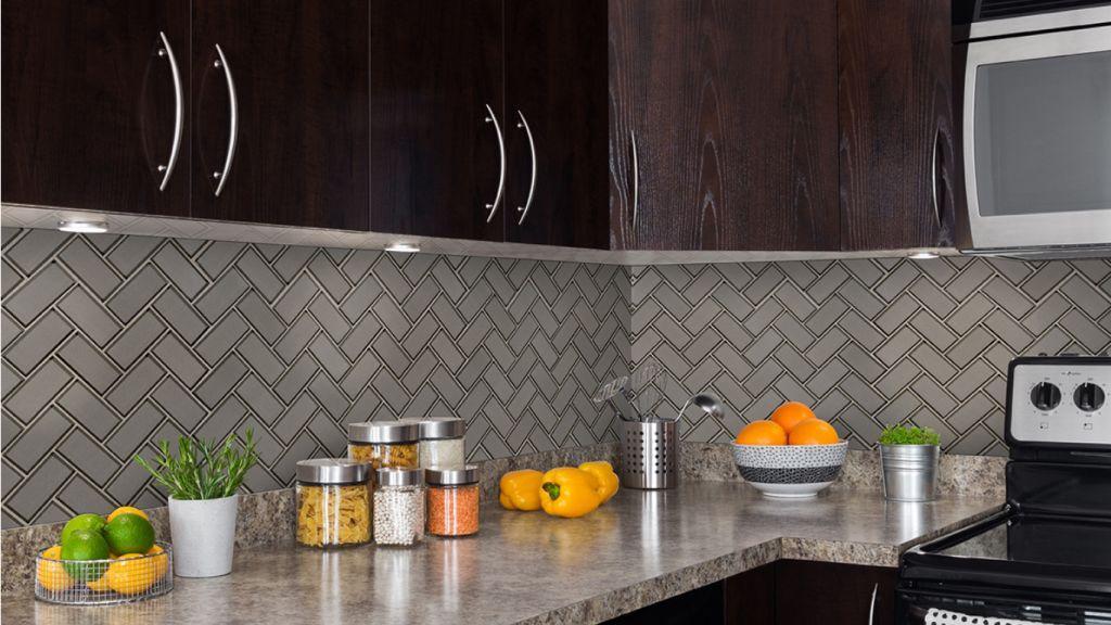 Champagne Bevel Herringbone Mosaic Tile