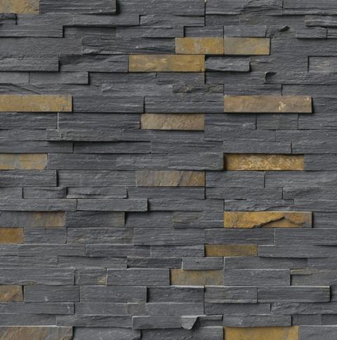 Charcoal Rust 6x24 Split Face Ledger Panel