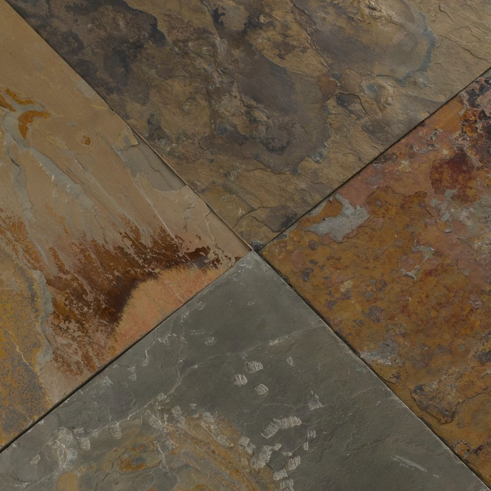 China Multicolor Classic 12x12 Gauged Slate Tile
