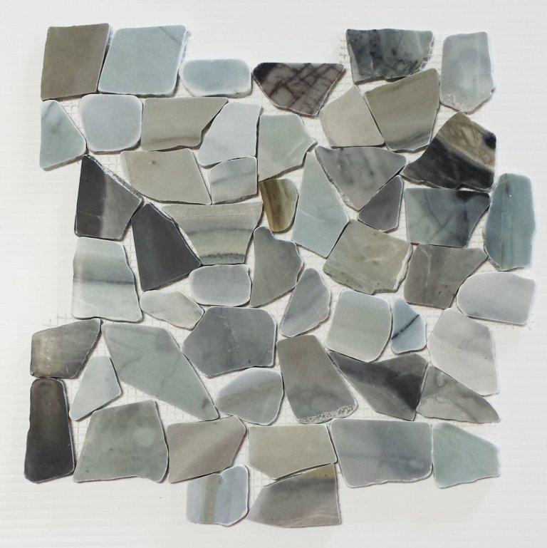 Cinderella 12X12 Interlocking Designer Flat Collection Pebble Tile