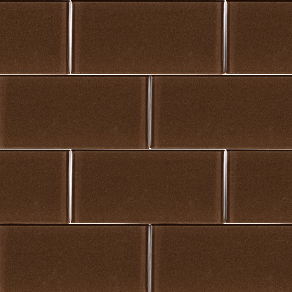 Cinnamon Glass 3x6x8MM Subway Tile