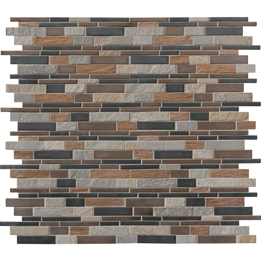 Cobrello Interlocking Pattern Mesh-Mounted Mosaic