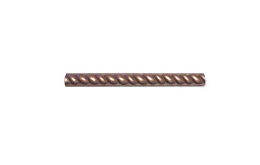 Copper Metal 0.5x6 Half Round Rope Listello Molding