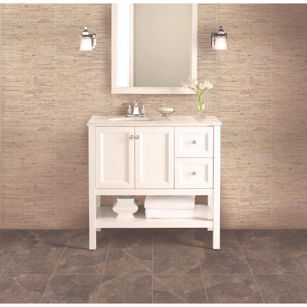 Crema Ivy Bamboo 12X12 Honed Travertine Mosaic