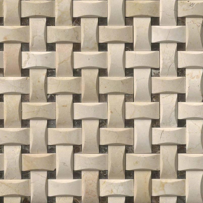 Crema Marfil Basketweave Arched Pattern Polished
