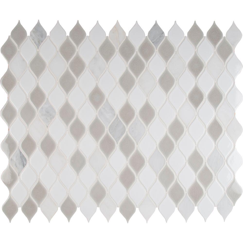 Cresta Blanco 8mm Pattern Porcelain Mosaic
