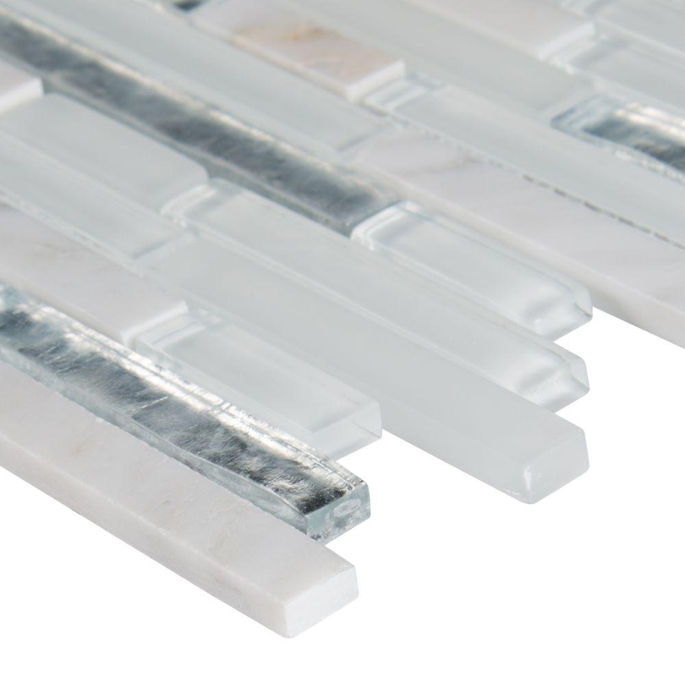 Cristallo Interlocking Pattern Glass Mosaic