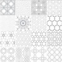 Abani Stak 3X3 Honed Encaustic Pattern Marble Mosaic Tile