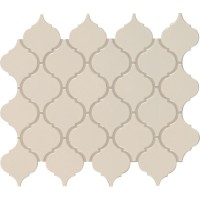 Almond Glossy Arabesque Mosaic