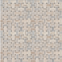 Angora Basketweave Polished Mosaic Wall Tile