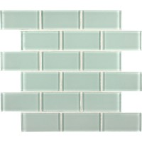 Arctic Ice 2x4 Glass Subway Mosaic