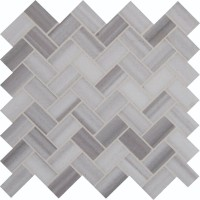 Bergamo Herringbone Polished Pattern Mosaic