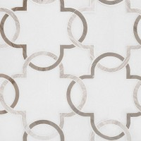 Bianco Quatrefoil Polished Pattern Marble Tile