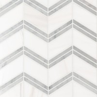 Bianco Dolomite Polished Cheveron Mosaic