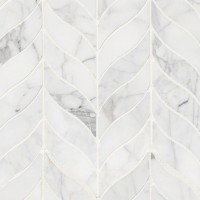Calacatta Cressa Leaf Pattern Honed Mosaic