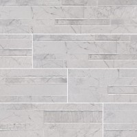 Carrara White 6X24 Matte Porcelain Ledger Panel