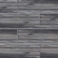 Glacier Black 3x9 Glass Subway Tile