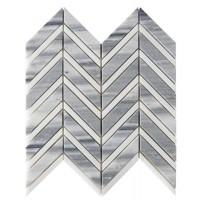 Marmala Chevron 11x12 Polished Marble Mosaic