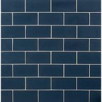 Midnight 3X6 Glossy Glass Subway Tile