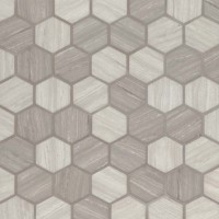 Silva Oak 2X2 Hexagon Recycled Glass Mosaic